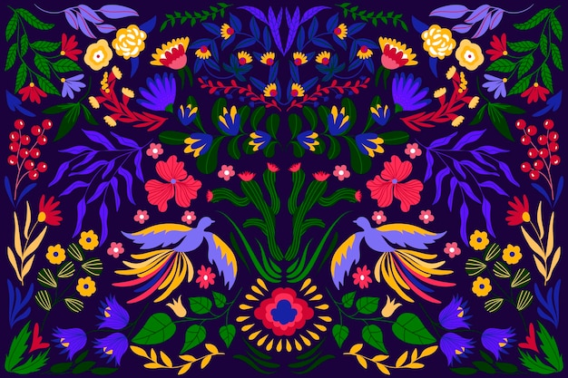 Colorful mexican concept for wallpaper