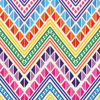 Colorful mexican embroidery style pattern