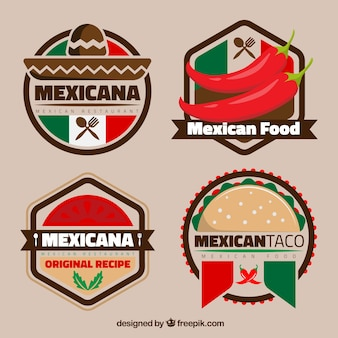 Colorful mexican logos for restaurants