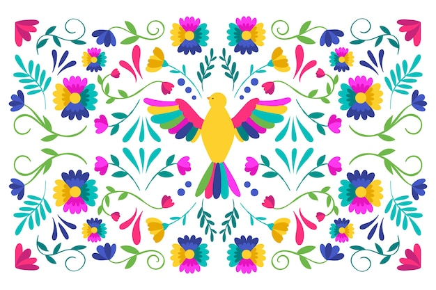 Colorful mexican screensaver flat design