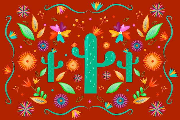 Colorful mexican theme for background