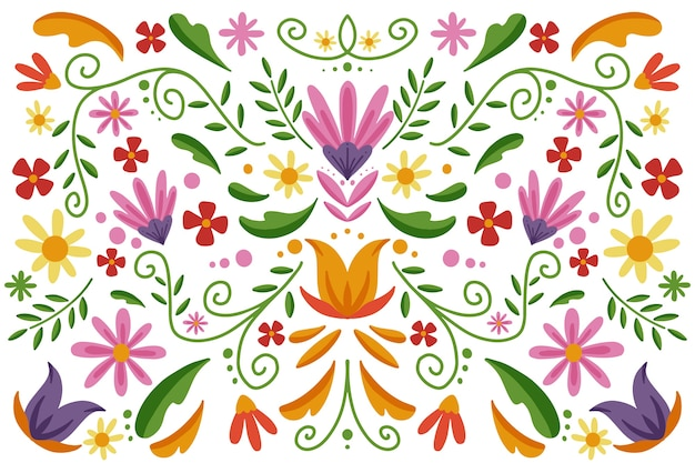 Colorful mexican wallpaper style
