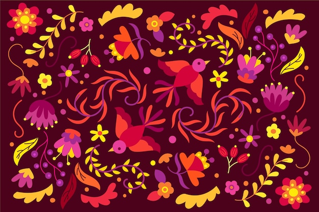 Colorful mexican wallpaper theme