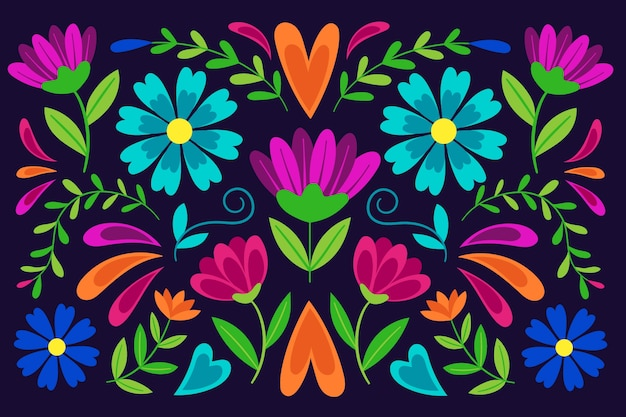 カラフルなメキシコの壁紙のテーマ