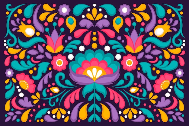화려한 멕시코 벽지