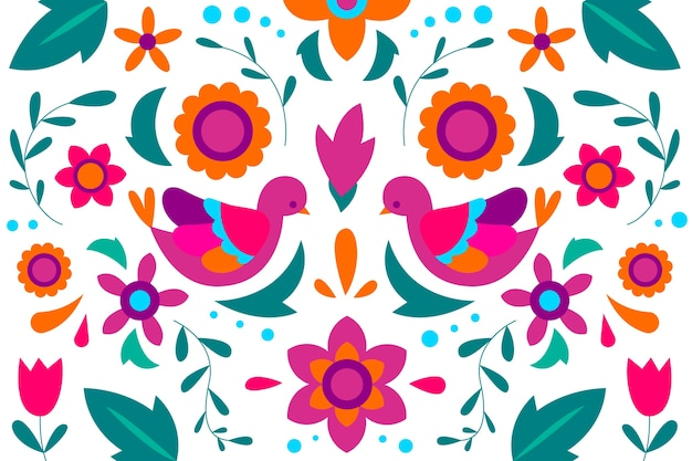 Colorful mexican wallpaper