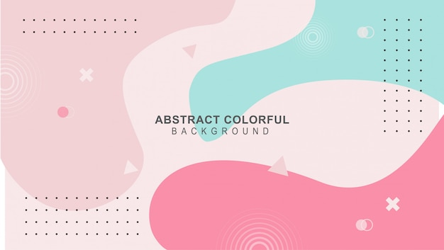 Colorful mimphis design backgeound vector