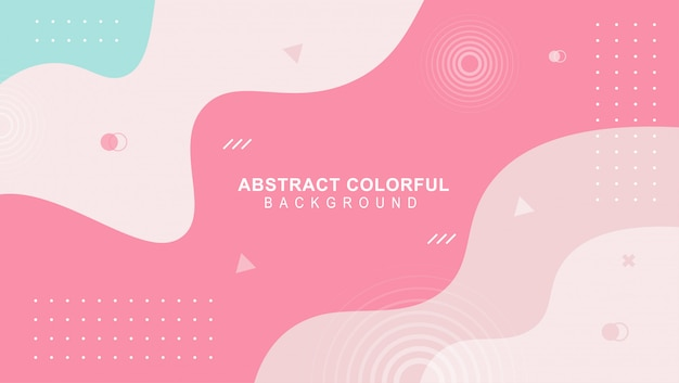 Colorful mimphis design backgeound vector