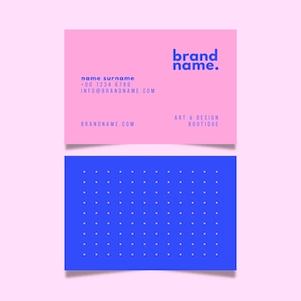 Colorful minimal business card collection template
