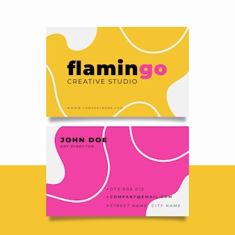 Colorful minimal business card design