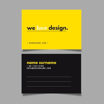 Colorful minimal business card template collection