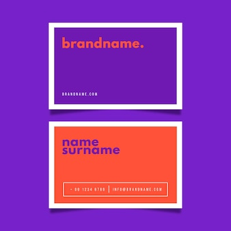 Colorful minimal business card template set