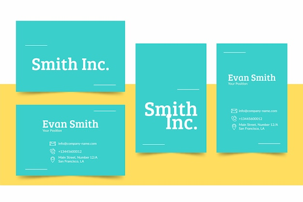 Colorful minimal business card template