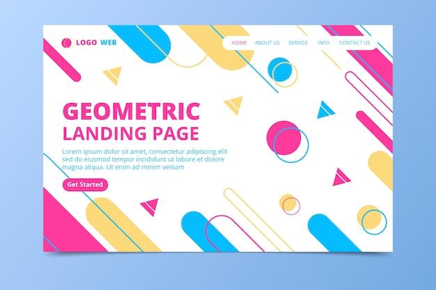 Colorful minimal geometric landing page