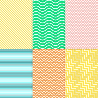 Colorful minimal geometric pattern collection