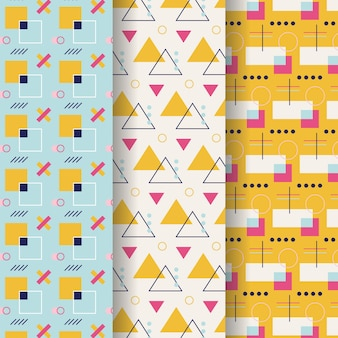 Colorful minimal geometric pattern pack