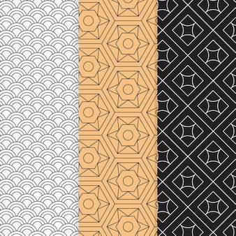Colorful minimal geometric pattern set