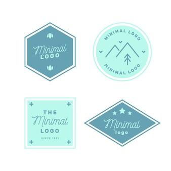 Красочная минимальная коллекция логотипов в винтажном стиле
