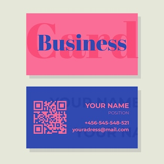 Colorful minimal template business card