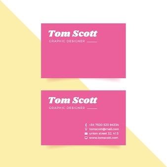 Colorful minimal template collection business card