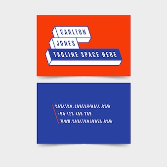 Colorful minimalist business card