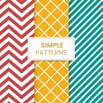 Colorful mixed seamless pattern vector set