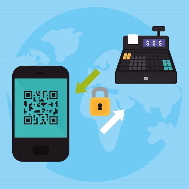 Красочный дизайн мобильных платежей