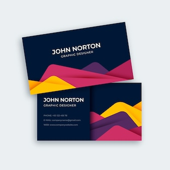 Colorful modern abstract business card template