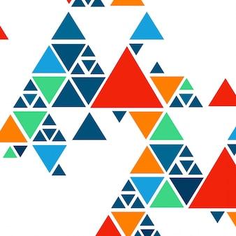 삼각형 화려한 현대 배경 무료 벡터