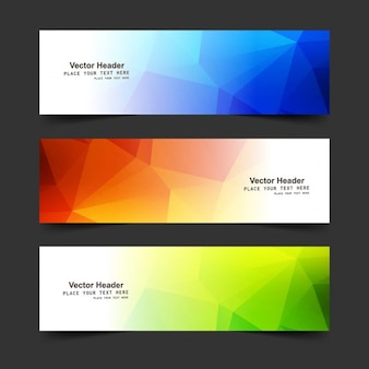 Colorful modern banners