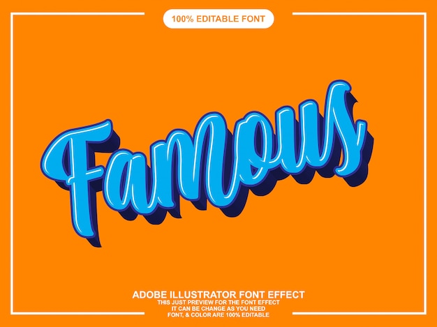 Colorful modern brush script graphic style editable font