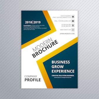 Colorful modern business brochure template vector design