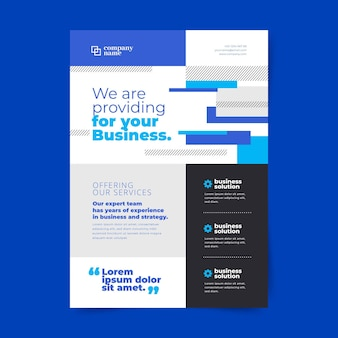 Colorful modern business flyer template