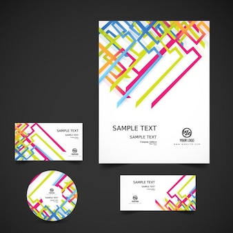 Colorful modern business stationery