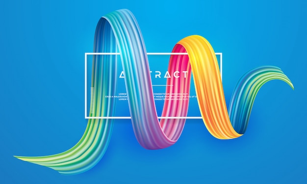 Colorful, modern, flow vector design.