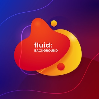 Colorful modern geometric shape liquid abstract social media poster background.