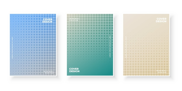 Insieme di progettazione del modello di copertine moderne colorate sfumate