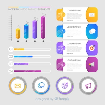 Colorful modern infographic elements