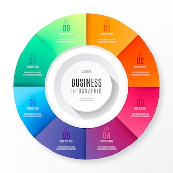 Colorful and modern infographic