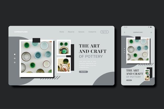 Colorful modern landing page