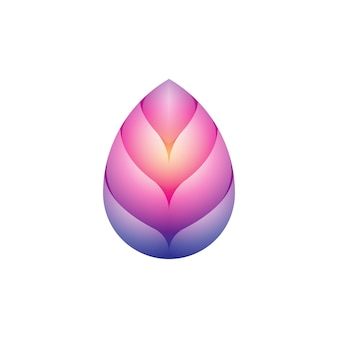 Colorful modern lotus yoga logo