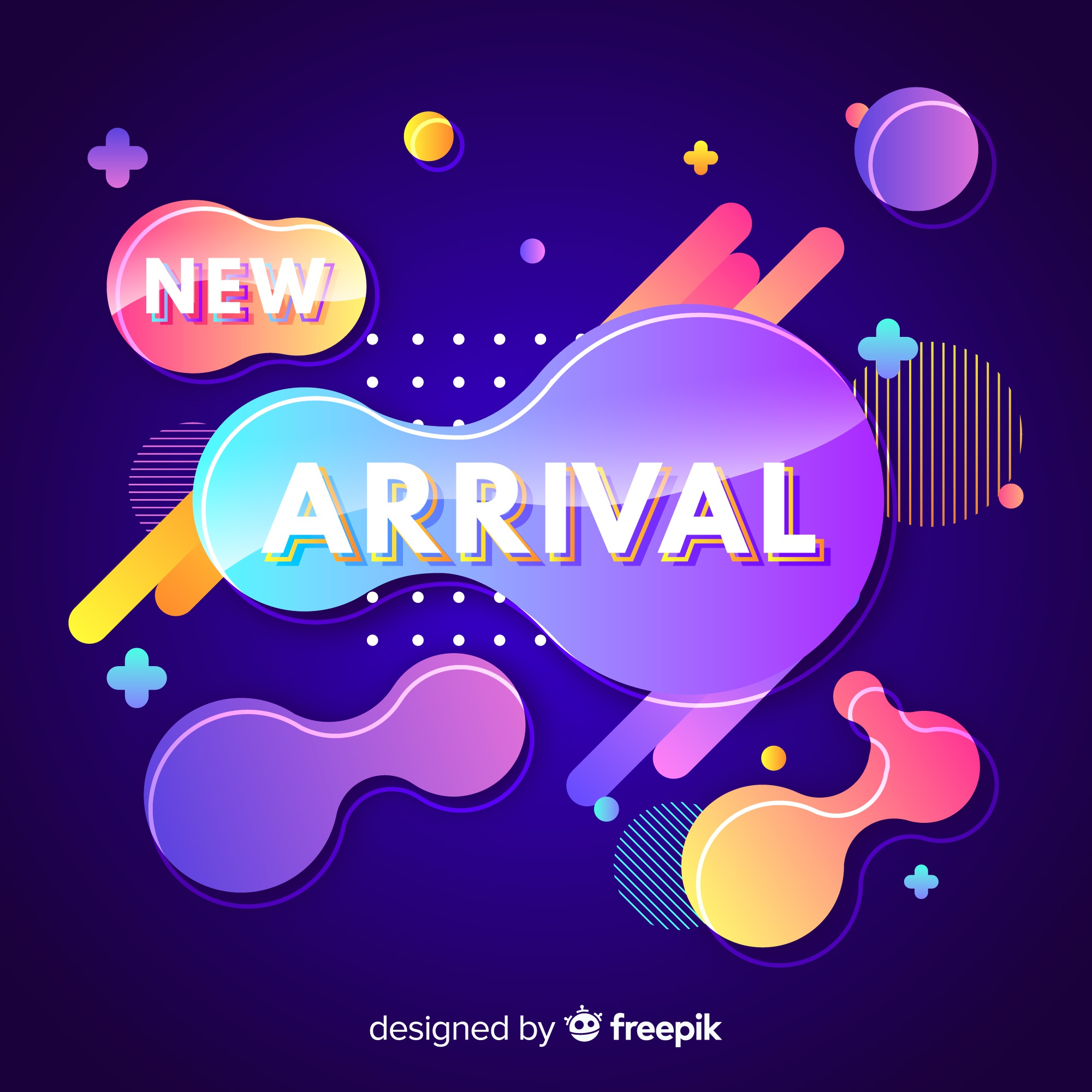 Colorful modern new arrival background