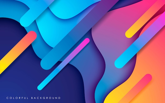 Colorful modern overlaping layers background