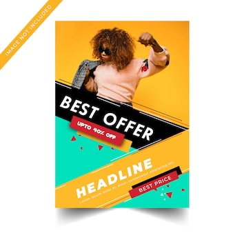 Colorful modern sale banner template