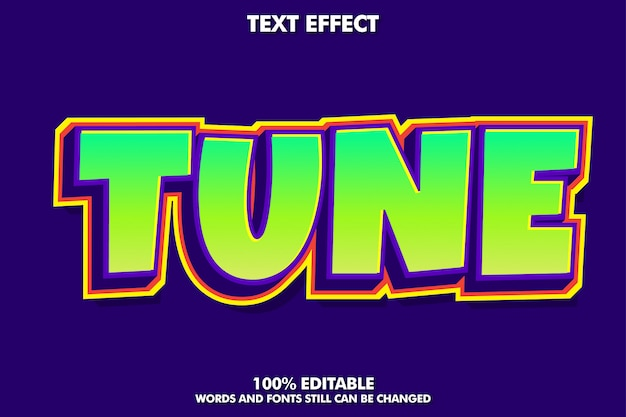 Colorful modern text style for banner and sticker