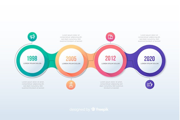 Colorful modern timeline infographic template