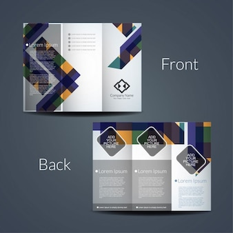 Colorful modern tri fold template