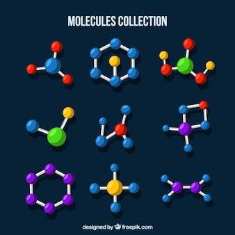 カラフルな分子構造セット
