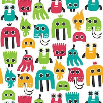Colorful monster pattern