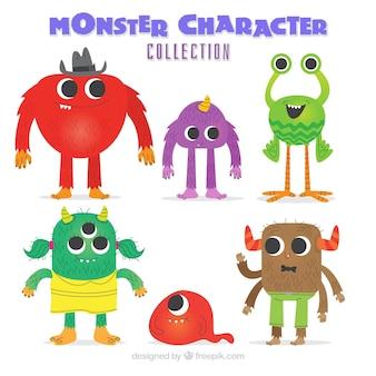 Collezione di mostri colorati